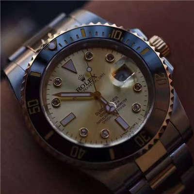 【NOOB厂V7版一比一超A高仿手表】劳力士潜航者型系列116610LN金盘腕表《包真18K金版》价格报价