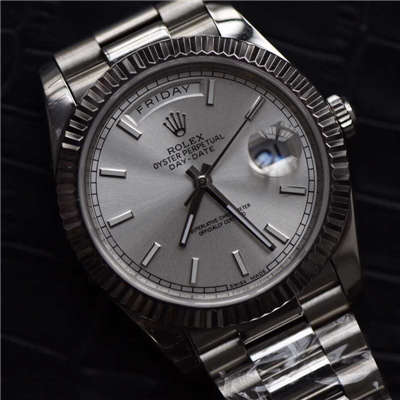 【EW厂1:1精仿手表】劳力士星期日历型系列228239银色表盘男表价格报价