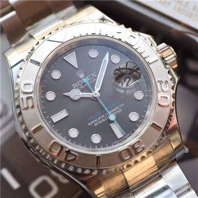 【NOOB厂一比一高仿手表】劳力士游艇名仕型系列116622 灰面蓝针机械腕表《新品》价格报价