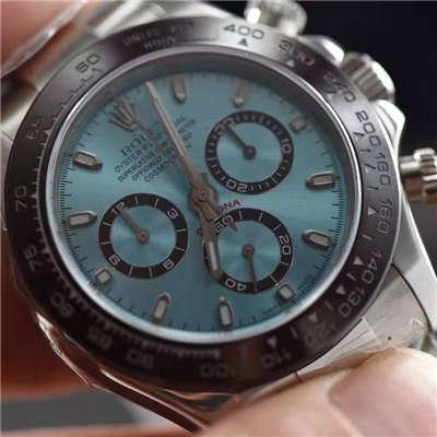 【独家视频测评一比一超A高仿手表】劳力士宇宙计型迪通拿系列116506-78596冰蓝迪通拿腕表价格报价