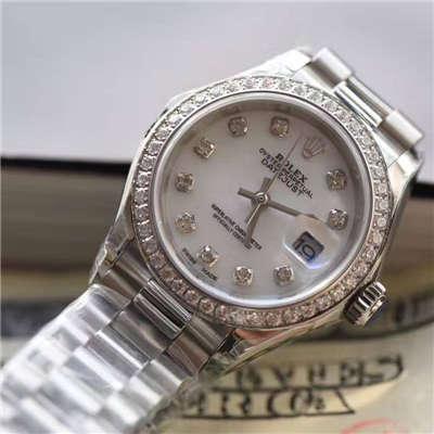 【SY最高品质1:1超A高仿手表】劳力士女装日志型系列279136RBR女士机械腕表