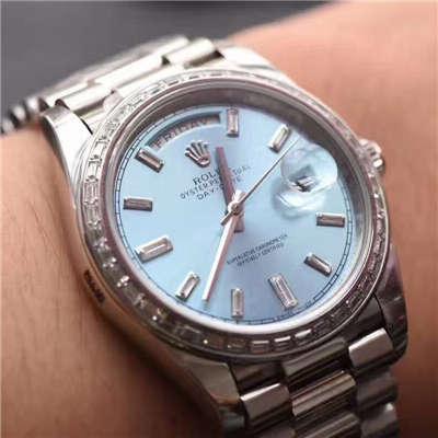 【EW厂1:1复刻手表】劳力士星期日历型系列228396TBR蓝盘腕表