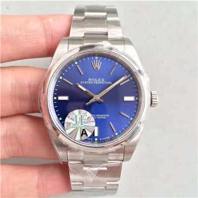 【JF厂1:1顶级复刻手表】劳力士蚝式恒动系列114300蓝盘腕表价格报价