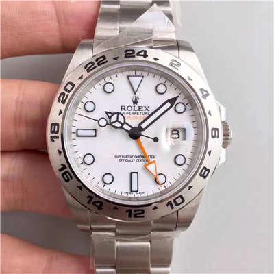 【N厂V7版1:1高仿手表】劳力士探险家型二代EXP2系列216570-77210 白盘机械腕表价格报价