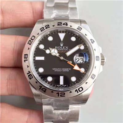 【N厂V7版1:1超A精仿手表】ROLEX劳力士EXP2探险家型系列探险者二代216570-77210 黑盘腕表