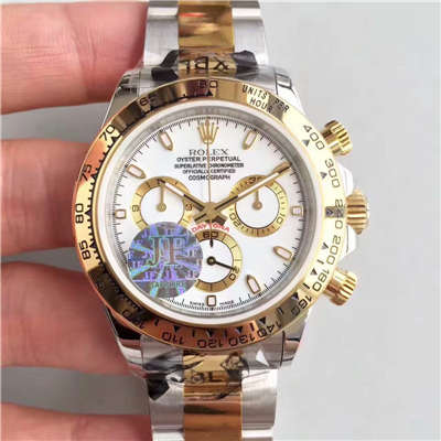 【JF厂1:1高仿手表】劳力士宇宙计型迪通拿系列116508白盘腕表价格报价