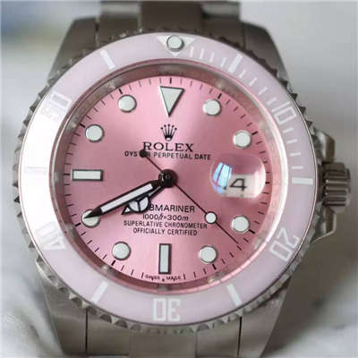 【NOOB厂1:1顶级复刻手表】劳力士潛航者型系列116610LN 银盘《SUB粉水鬼》女款腕表价格报价