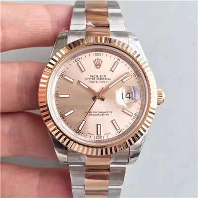 【NOOB厂一比一精仿手表】劳力士日志型系列126331粉盘纪念型表带腕表价格报价
