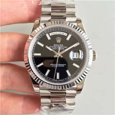 【NOOB厂超A精仿手表】劳力士星期日历型系列228239-黑盘腕表价格报价