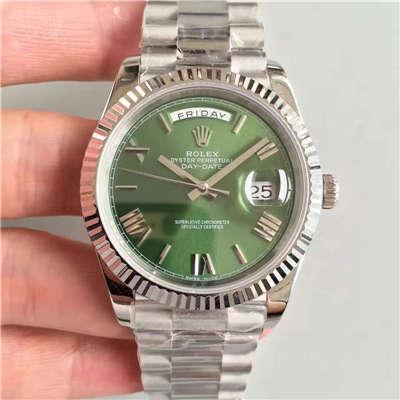 【N厂一比一超A高仿手表】劳力士星期日历型系列228239绿盘腕表