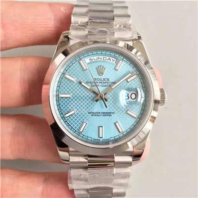 【N厂一比一精仿手表】劳力士星期日历型系列228206-83416机械腕表价格报价