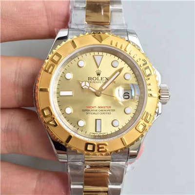 【JF厂一比一超A高仿手表】劳力士游艇名仕型系列168623-78753 香槟色表盘腕表价格报价