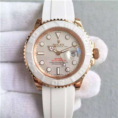 【NOOB厂一比一高仿手表】劳力士劳力士游艇名仕型系列116655-Oysterflex bracelet白盘腕表价格报价