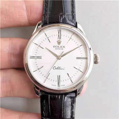 【MK一比一精仿】劳力士切利尼系列50509白盘男士机械手表价格报价