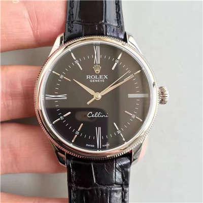 【MK一比一超A高仿手表】劳力士切利尼系列50509黑盘黑带机械腕表价格报价