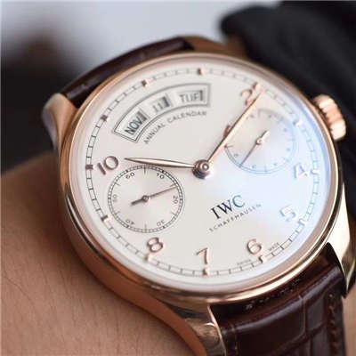 【YL厂一比一超A高仿手表】万国葡萄牙年历腕表系列IW503504万国年历玫瑰金腕表价格报价