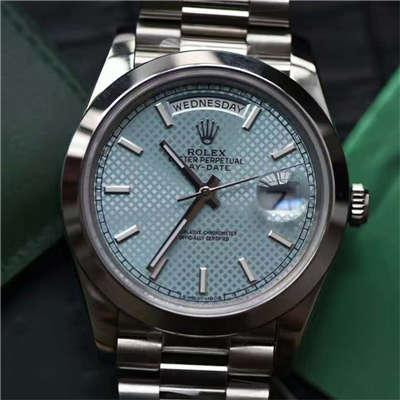 【实拍图鉴赏】EW厂1:1超A精仿手表之劳力士星期日历型系列228206-83416腕表价格报价