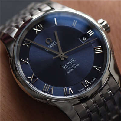 【SSS厂一比一高仿手表】欧米茄碟飞系列《明亮之蓝》431.10.41.21.03.001腕表《钢带版》价格报价