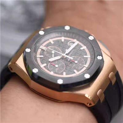 【视频评测JF厂一比一精仿手表】爱彼皇家橡树离岸型系列26401RO.OO.A002CA.02腕表