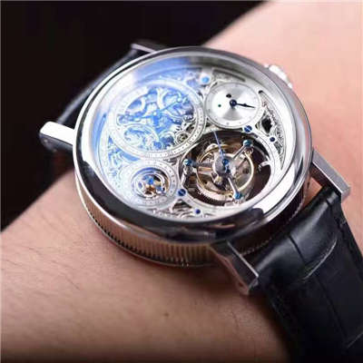 【TF厂一比一精仿手表】宝玑经典复杂系列3795PT/1E/9WU全镂空陀飞轮腕表