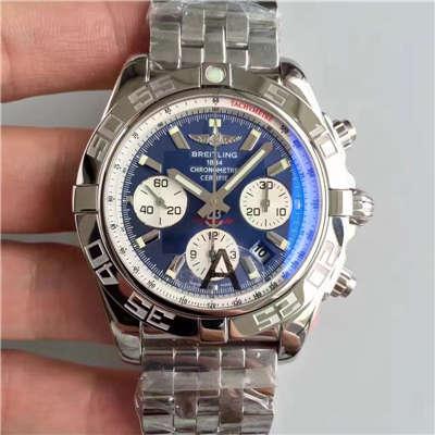 【JF厂一比一精仿手表】百年灵机械计时系列AB011011/C788(Pilot飞行员精钢表链)腕表