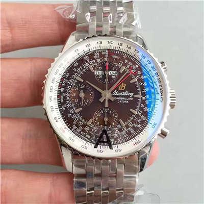 【JF厂一比一高仿手表】百年灵蒙柏朗计时系列A2133012-B571棕盘腕表