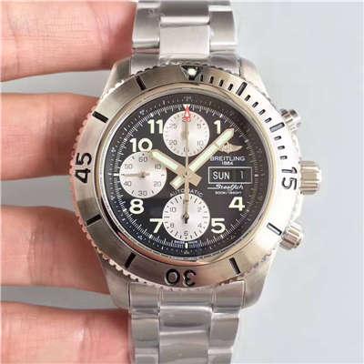 【GF厂一比一复刻手表】百年灵超级海洋系列A13341C3/BD19/162A钢鱼计时腕表