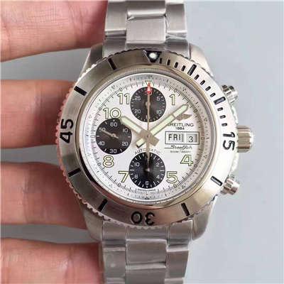 【GF厂一比一超A高仿手表】百年灵超级海洋系列A13341C3/G782/162A钢鱼计时腕表