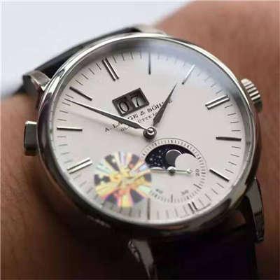 【实拍图鉴赏】GF一比一精仿手表之朗格萨克森系列384.026、384.032男表价格报价