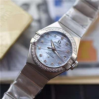 【HBBV6厂一比一超A高仿手表】欧米茄星座123.15.27.20.57.001女士腕表价格报价
