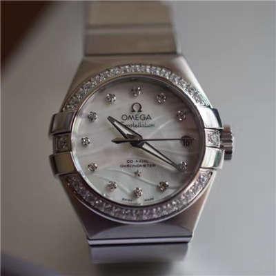 【V6厂一比一超A精仿手表】欧米茄星座轻羽系列123.15.27.20.55.001 女士机械手表价格报价