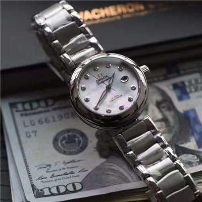 【HBBV6厂顶级复刻手表】欧米茄碟飞鸟巢系列425.30.34.20.55.002天然贝母面女士腕表价格报价