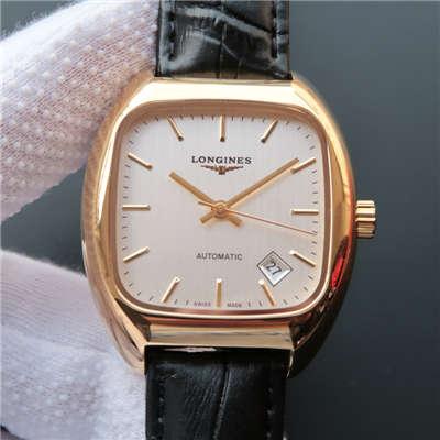 【MK厂1:1超A高仿手表】浪琴HERITAGE1969复古传统系列L2.310.4.72.0金壳腕表价格报价