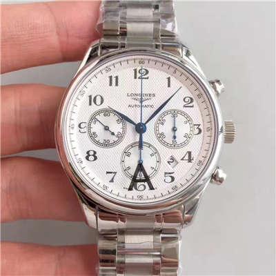 【视频评测JF厂一比一超A高仿手表】浪琴 LONGINES名匠系列 L2.759.4.78.6 男士机械腕表