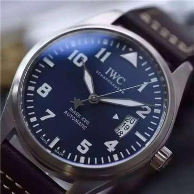 【MK厂一比一超A高仿手表】万国飞行员系列马克十七IW326506腕表(蓝面小王子)价格报价
