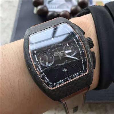 【LE1:1顶级复刻手表】法穆兰VANGUARD系列V45 SC DT BLACK PXL黑色腕表价格报价