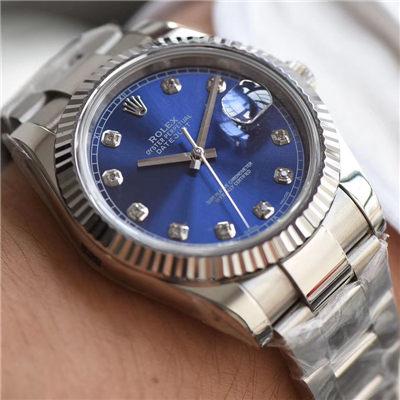 【视频评测N厂一比一复刻手表】劳力士日志型系列116234蓝盘镶嵌钻石腕表