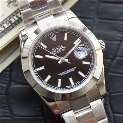 【N厂超A1:1精仿手表】劳力士日志型系列116334-黑盘腕表价格报价