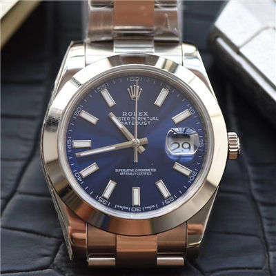 【视频评测N厂一比一超A高仿手表】劳力士日志型系列116300蓝盘腕表价格报价