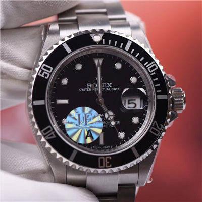【JF厂一比一超A高仿手表】劳力士潜航者型系列16610LV第四代老款黑水鬼