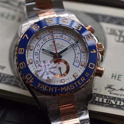 【JF一比一顶级高仿手表】劳力士游艇名仕型II YM2系列116681-78211 白盘腕表价格报价