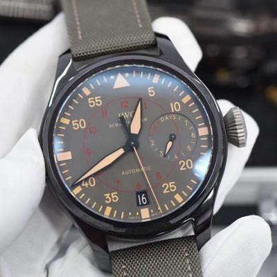 【视频评测ZF厂一比一超A高仿手表】万国飞行员系列 TOP GUN 海军空战部队MIRAMAR腕表IW501902价格报价