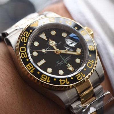 【N厂V7版本一比一精仿手表】劳力士格林尼治型II系列116713-LN-78203腕表【可选择包金款】价格报价