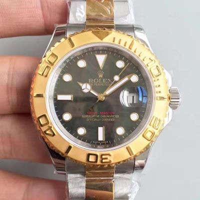 【JF厂一比一复刻手表】劳力士游艇名仕型系列16623黑贝母盘腕表价格报价