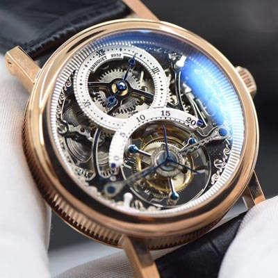 【BM厂一比一超A高仿手表】宝玑经典复杂系列3355PT/00/986缕空雕花顶级手动真陀飞轮腕表
