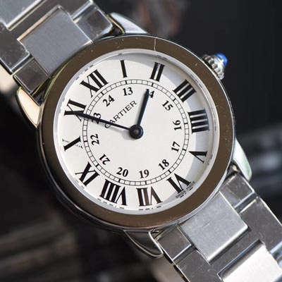 【K11一比一复刻手表】卡地亚RONDE DE CARTIER 伦敦SOLO系列W6701004、WSRN0012女士石英腕表