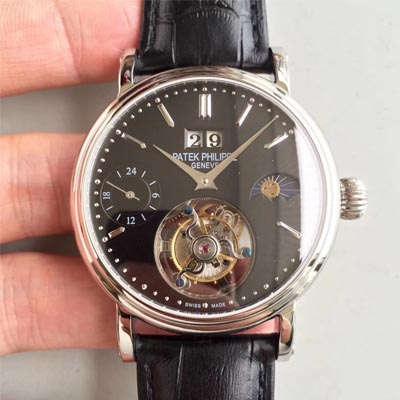 【BM一比一超A高仿手表】百达翡丽大日历月相陀飞轮腕表
