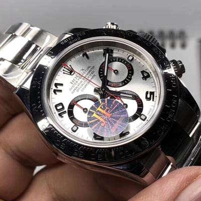 【JF一比一超A高仿手表】劳力士宇宙计型迪通拿系列116509-78599 银色数字刻度腕表价格报价