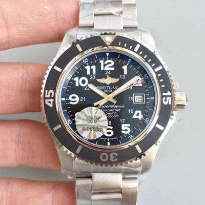 【GF厂一比一超A高仿手表】百年灵超级海洋二代系列腕表(SUPEROCEAN Ⅱ)A17392D7/BD68/162A腕表
