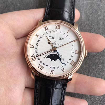 【OM一比一超A高仿手表】宝珀经典系列6664-3642-55B月相腕表